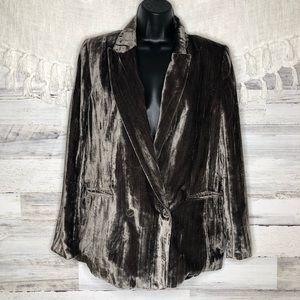 H&M crushed velvet blazer
